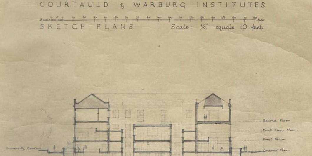 Pen and ink architectural building plans