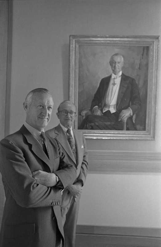 photographed alongside <i>Paul Mellon, Yale College, Class of 1929</i> by William F. Draper, 1972, oil on canvas. Collection of Yale Center for British Art (B1977.15).