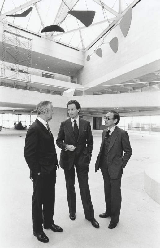 <i>and I. M. Pei in the East Building of the National Gallery of Art, Washington DC, 1978</i>.